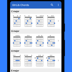 Vast and comprehensive chord library for guitar