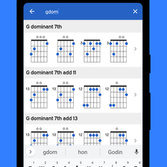 Search and quickly find any chord in any key